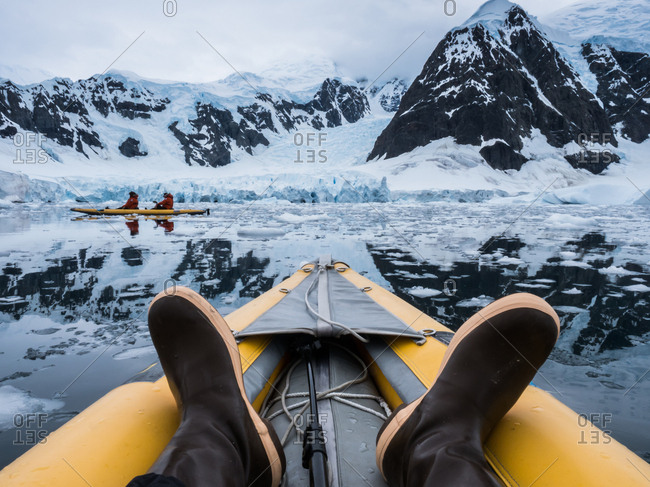 Kayaking in the Antarctica amongst the icebergs and glaciers.