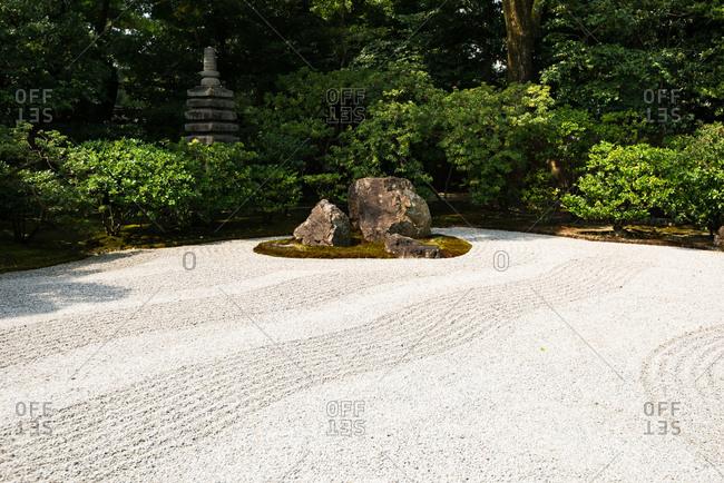 Zen sand garden at Kennin-ji temple in Kyoto.