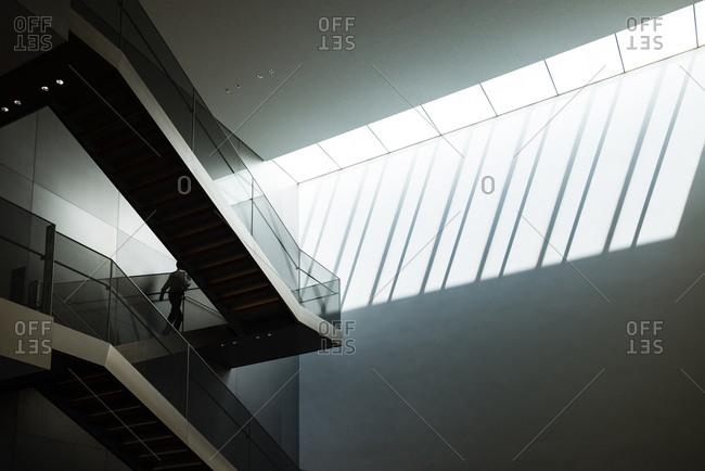 Modern interior of Kyoto national museum.