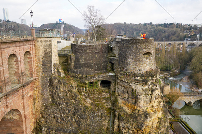 Luxembourg City, Luxembourg - January 16, 2017: Fortress of Luxembourg