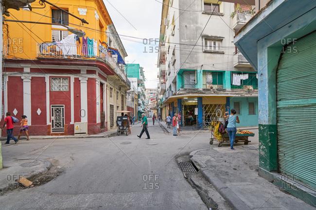 Havana, Cuba - March 3, 2017: Street scene in Havana, Cuba