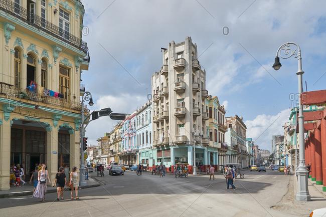 Havana, Cuba - March 4, 2017: People on the street in Havana, Cuba