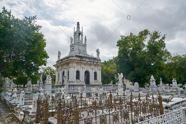 Havana, Cuba - March 5, 2017: Large crypt in the Colon Cemetery, Havana