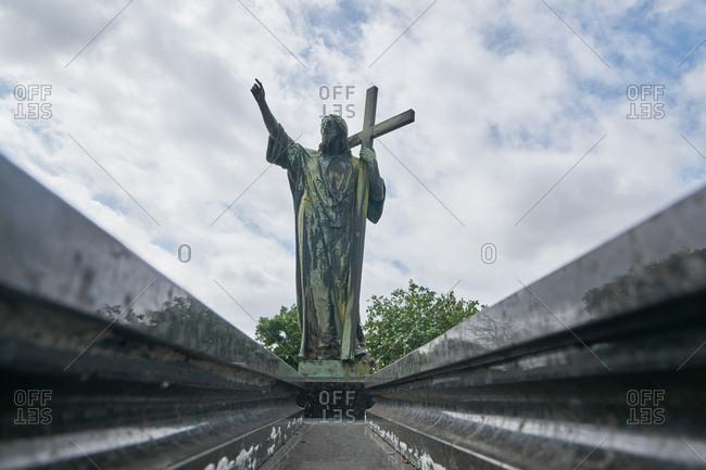 Jesus sculpture in the Colon Cemetery, Havana