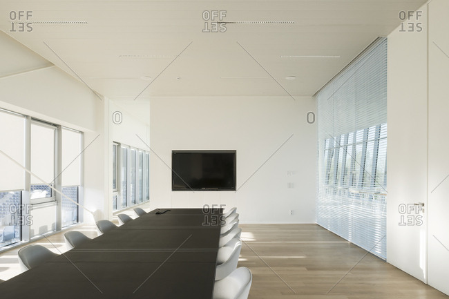 Interior of modern meeting room in office building