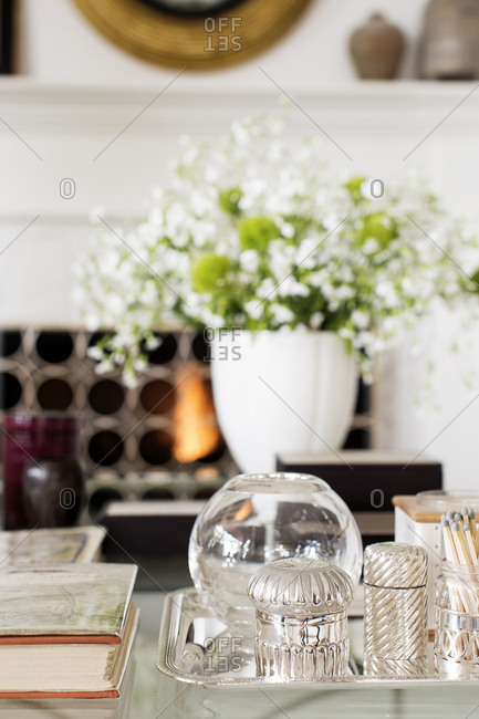 West Hollywood, California, USA - May 4, 2015: Interior decoration in condo