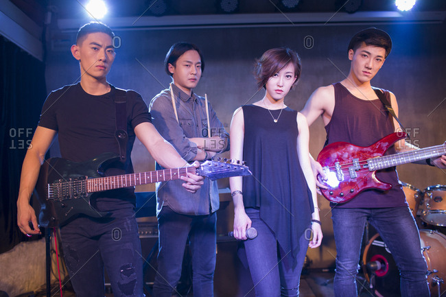 Confidence musical band on stage