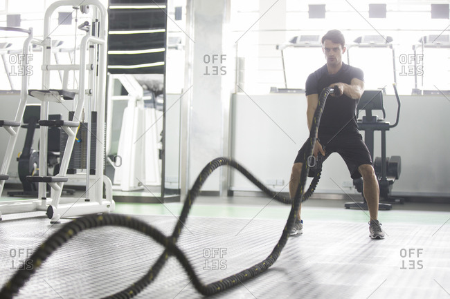 battle ropes stock photos - OFFSET