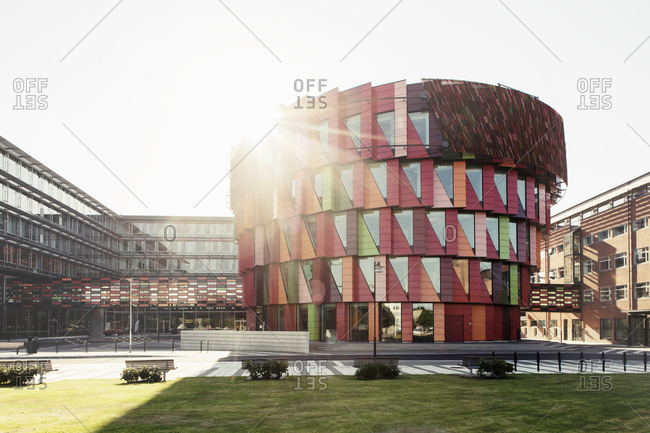 Scandinavia, August 21, 2015: Chalmers University of Technology against clear sky