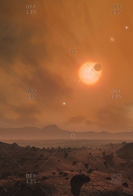 The View from Trappist-1f