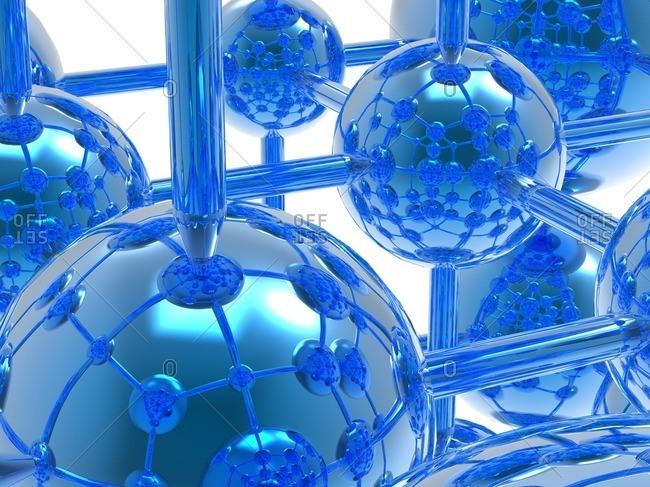 Generic molecule, computer artwork