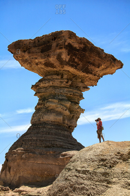 Talampaya National Park, San Juan, Argentina - May 24, 2016: The Provincial Park Ischigualasto or Moon Valley, located at the northern end of the province of San Juan
