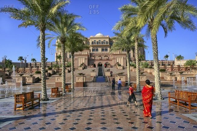 Abu Dhabi, Abu Dhabi, UAE, United Arab Emirates - January 4, 2010: Emirates Palace Hotel, Abu Dhabi, United Arab Emirates, Middle East