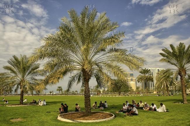 Sharjah, dubai, UAE, United Arab Emirates - January 1, 2010: United Arab Emirates, Sharjah,