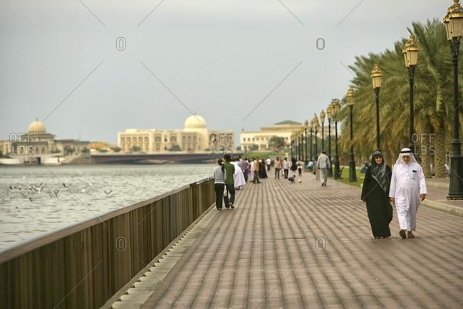 Sharjah, dubai, UAE, United Arab Emirates - January 1, 2010: Sharjah-  United Arab Emirates
