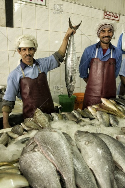 Al Ain, dubai, UAE, United Arab Emirates - January 2, 2010: Zoco de Al-Ain_ Al Ain- United Arab Emirates- fish-sharjah