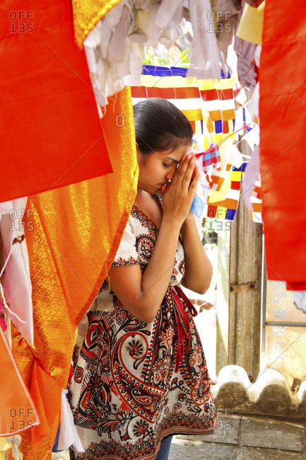 Sri Dalada Maligawa, kandy, Sri Lanka - September 12, 2015: Sri Lanka - Temple of the Tooth, Kandy, Sri Dalada Maligawa, Buddhist shrine, Sri Lanka, UNESCO World Heritage Site