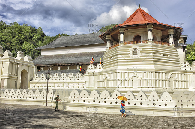 Sri Dalada Maligawa, kandy, Sri Lanka - September 12, 2015: Sri Lanka. The central part. Kandy. Sri Dalada Maligawa