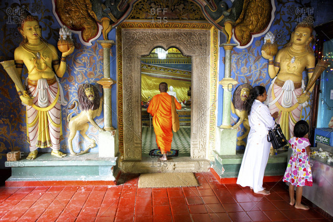 Buddhist Temple Buddha Tooth, kandy, Sri Lanka - September 12, 2015:  UNESCO World Heritage Site, Kandy, Hill country, Sri Lanka, Asia