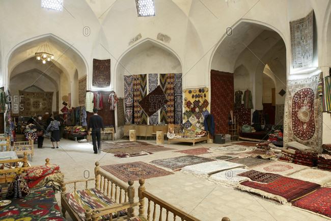 Bukhara, Bukhara, Ukbekistan - April 5, 2010: Maghoki-Attar Mosque