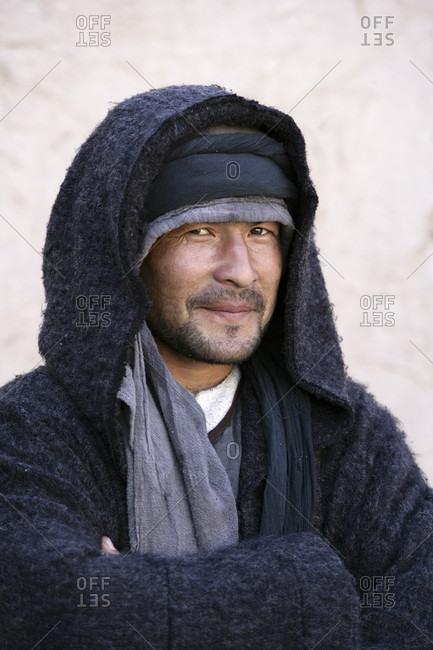 Khiva, Khiva, Uzbekistan - April 3, 2010: Uzbek Man in Khiva Uzbekistan