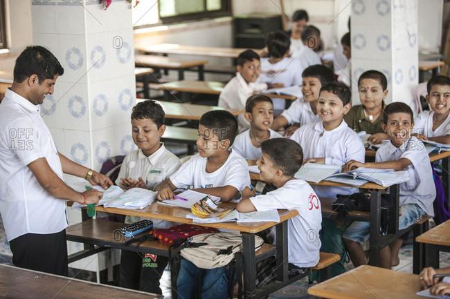 Mandalay, Mandalay, Myanmar - November 30, 2014: Nepali School at Nepal/Gorkha Dharamshala in Mandalay. Myanmar.