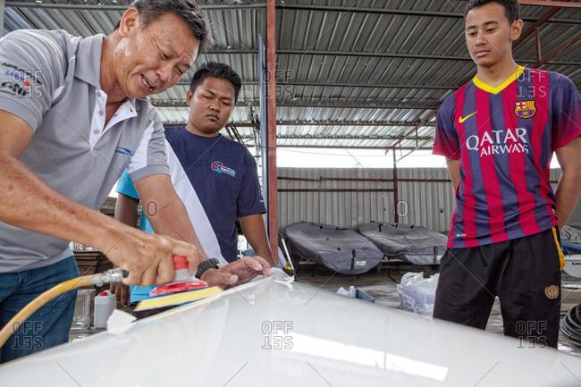 Kuah, Langkawi, Malaysia - October 27, 2015: ISAF Emerging Nations Program, Langkawi, Malaysia.