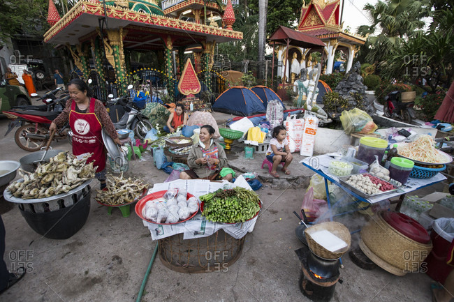 Vientiane, Vientiane, Laos - November 25, 2015: Boun That Luang is a yearly Buddhist festival held at The Golden Stupa (That Luang) in Vientiane, Laos.
