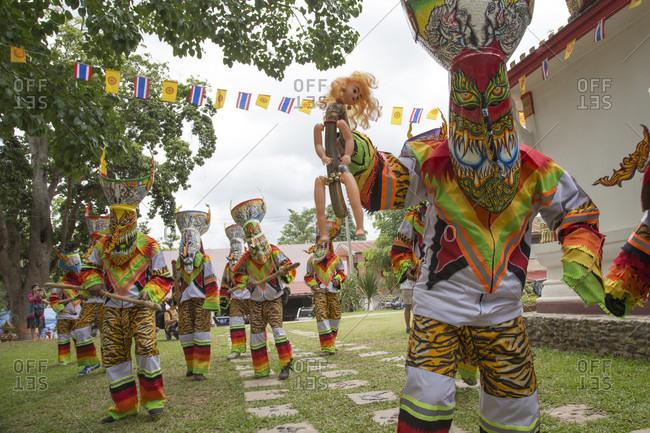 Dansai, Dansai Provence, Thailand - June 26, 2015: Images from the Ghost Festival (Pee Ta Khon) in Dansai, Thailand