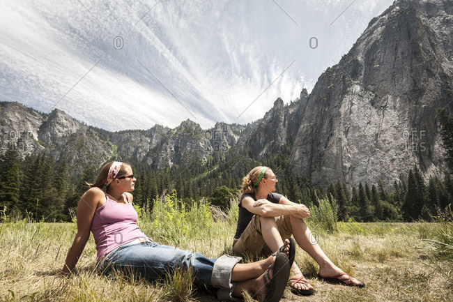 Yosemite National Park, CA, USA - June 7, 2007: Camping in Yosemite National Park, California