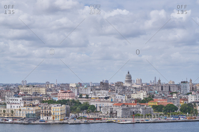 Havana, Cuba - March 7, 2017: Cityscape from the waterfront