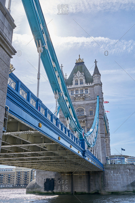 Tower Bridge crossing the River Thames in London
