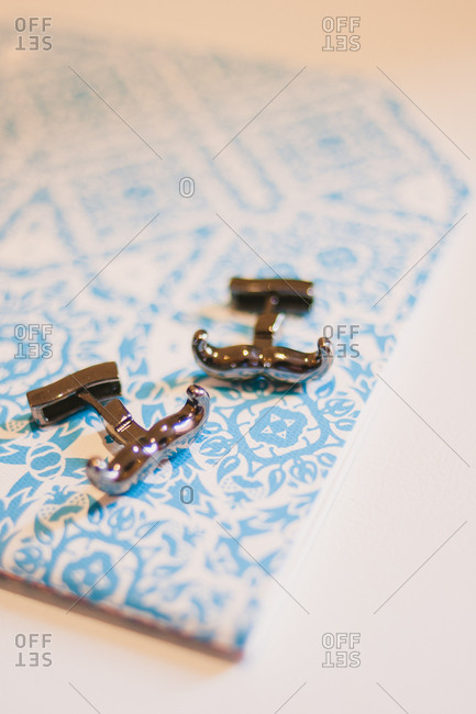 Mustache shaped cufflinks