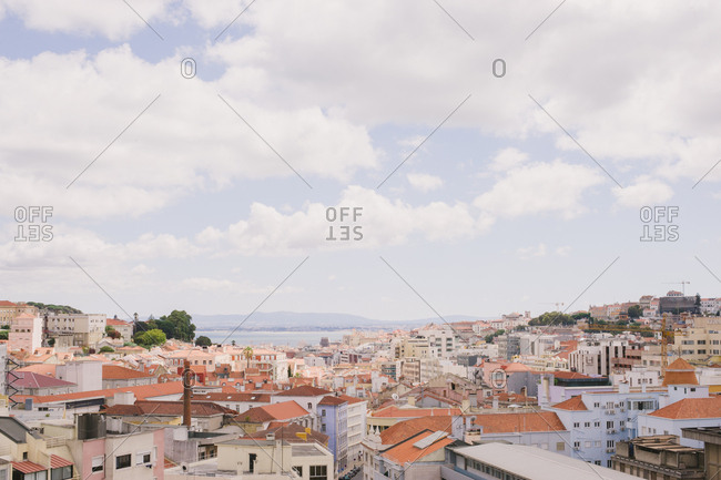 Lisbon, Portugal - January4, 2017: View over rooftops in Portugal