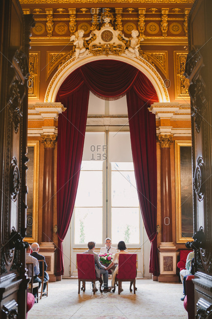 Lisbon, Portugal - January 4, 2017: Wedding in a grand building