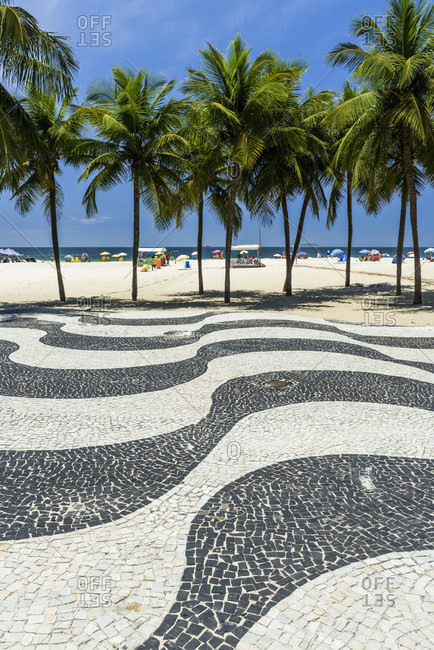 Rio de Janeiro, Rio de Janeiro, Brazil - December 7, 2016: Copacabana Beach, Rio de Janeiro, Brazil