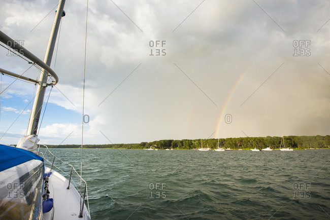 Summer storm seen from the Lake  of Tashmoo in Martha's Vineyard
