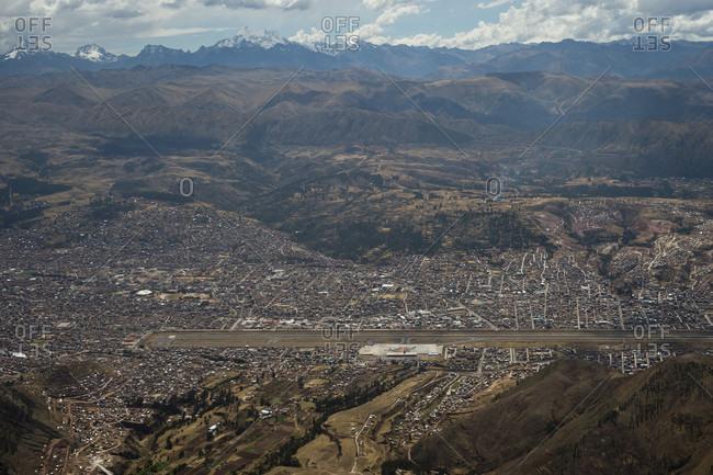 Aerial View Of The City Of Cusco, In Peru