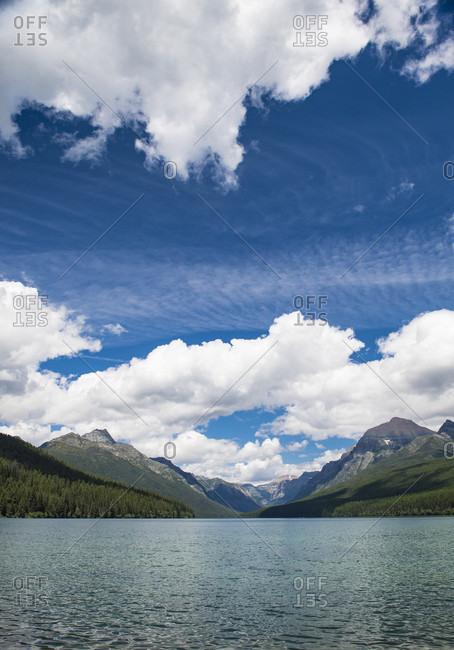 A Bowman Lake In Glacier National Park, Usa