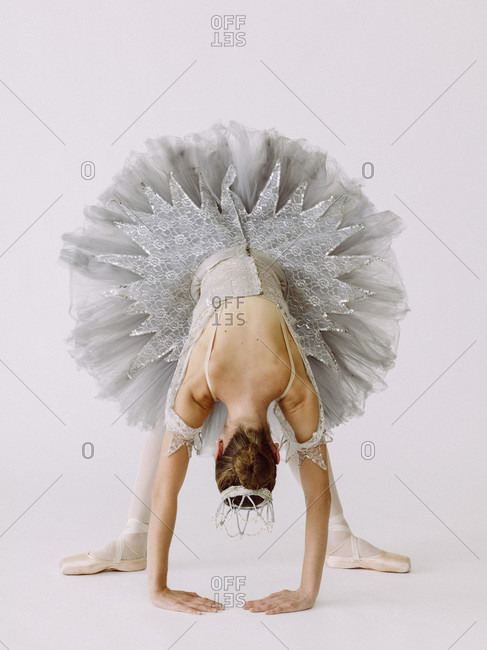 Ballet dancer performing ballet