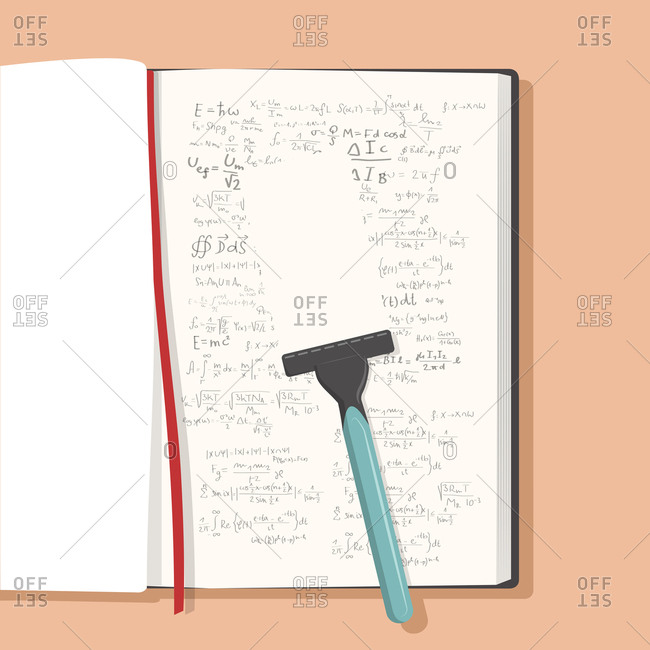 Razor removing writing from notebook