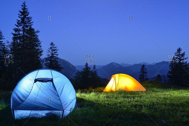 d8c71153c4 Two illuminated tents