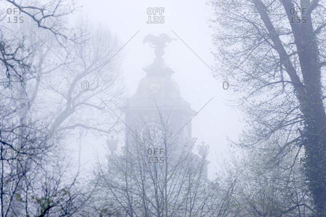 Tower of the Picture Gallery in the Fog, Park Sanssouci, Potsdam, Brandenburg, Germany