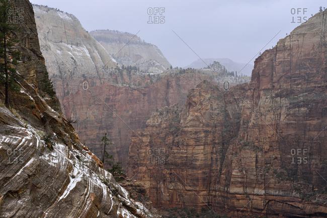 Mt Majestic in Zion National Park, Utah, USA, America