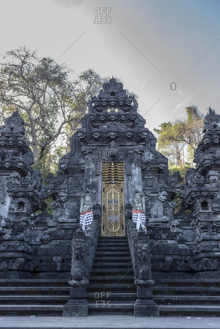Ornate Balinese temple entrance, near Padangbay, Bali, Indonesia