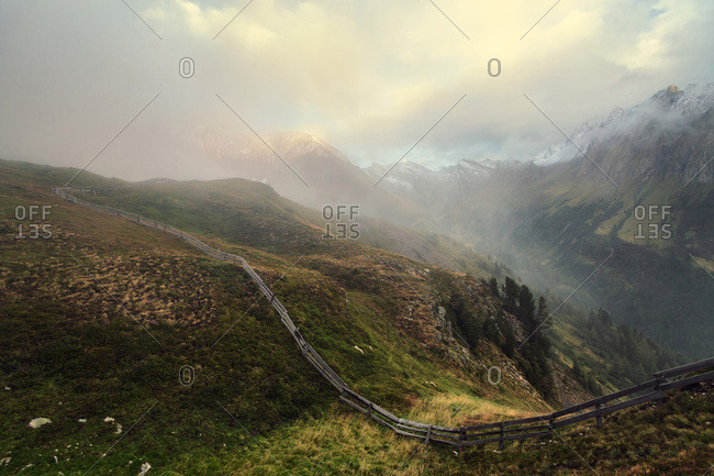 Beneath the Pfitscherjoch, mountain pass, View in direction to Hochferner, mountain, South Tyrol, Italy