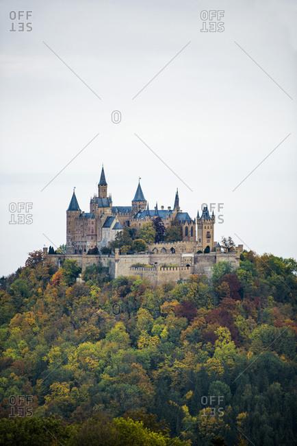 Burg Hohenzollern, Hechingen, Zollernalbkreis, Swabian Alps, Baden-Wuerttemberg, Germany