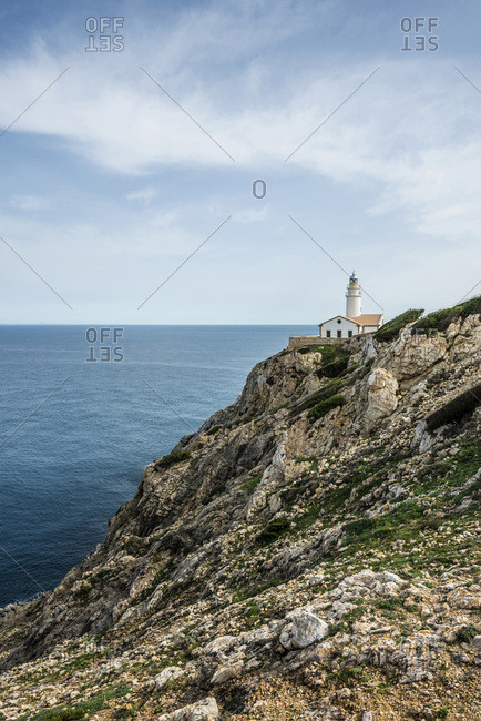 Lighthouse, Punta de Capdepera, Cala Rajada, Majorca, Balearic Islands, Spain