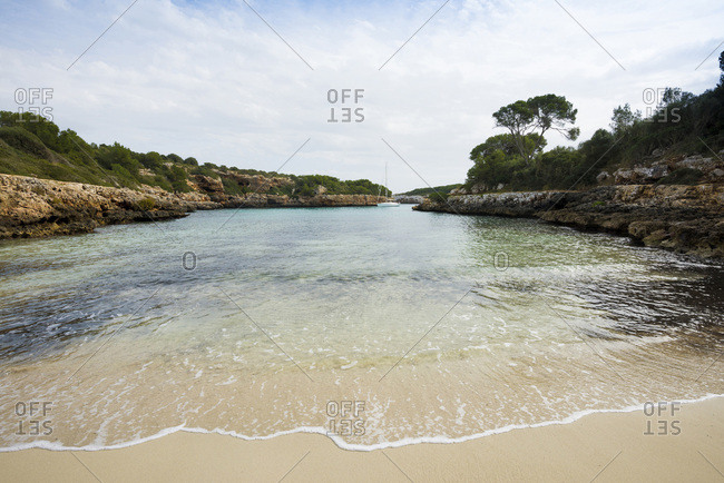Bay near Cala d�Or, Majorca, Balearic Islands, Spain