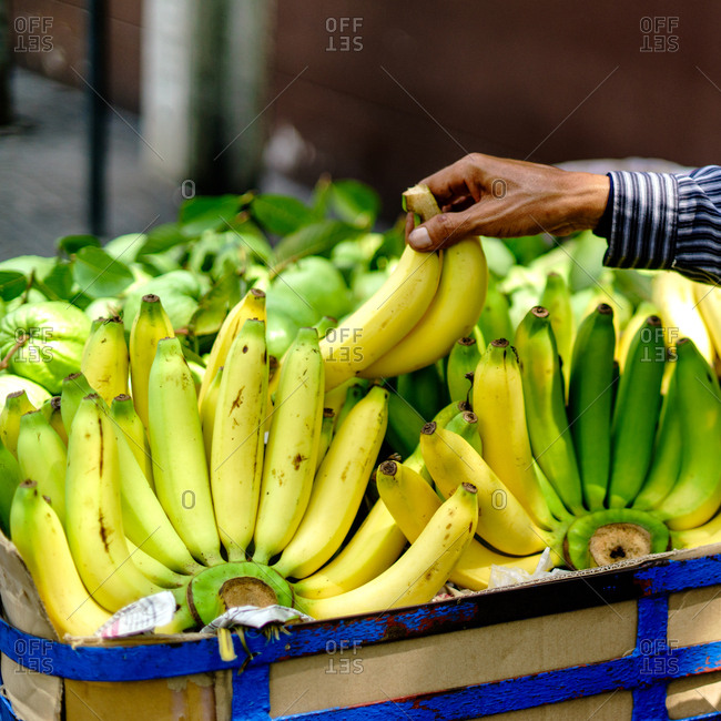 Banana's for sale in Bangkok, Thailand